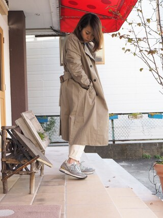 clever elephantさんの「code stretch slim pants(note et silence|ノートエシロンス)」を使ったコーディネート