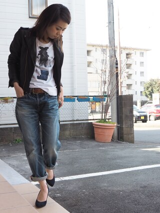 clever elephantさんの「【NO COMMNET PARIS】MENS 別注 tee shirts(NO COMMENT PARIS|ノーコメントパリ)」を使ったコーディネート
