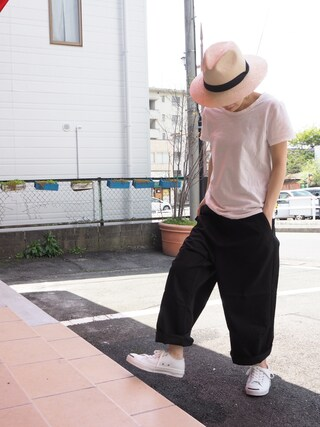 clever elephantさんの「CONVERSE / LEATHER JACK PURCELL(Jack Purcell|ジャックパーセル)」を使ったコーディネート