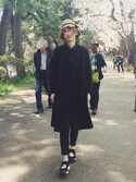 yukiiiiiさんの「【mature ha.(マチュアーハ)】Boxed Hat 11cm Brim(mature ha.|マチュア)」を使ったコーディネート
