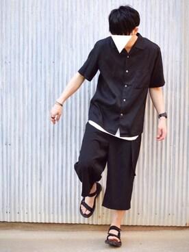 oguさんの「オープンカラーシャツ(UNIQLO)」を使ったコーディネート