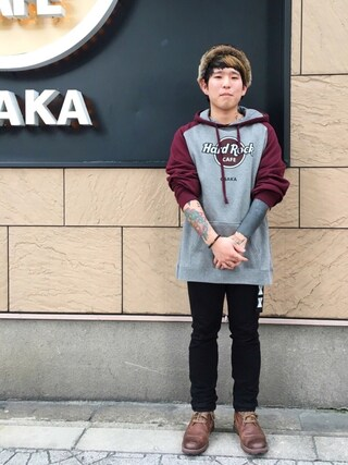 Hard Rock Cafe JAPAN|Hard Rock Cafe JAPANさんの「PULLOVER RAGLAN(Hard Rock Cafe|ハードロックカフェ)」を使ったコーディネート