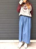 Hard Rock Cafe JAPANさんの「PULLOVER RAGLAN(Hard Rock Cafe|ハードロックカフェ)」を使ったコーディネート