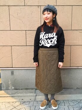 Hard Rock Cafe JAPANさんの「ROCK LEAGUE PULLOVER(Hard Rock Cafe|ハードロックカフェ)」を使ったコーディネート