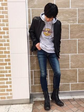 Hard Rock Cafe JAPAN|Hard Rock Cafe JAPANさんの(Hard Rock Cafe|ハードロックカフェ)を使ったコーディネート