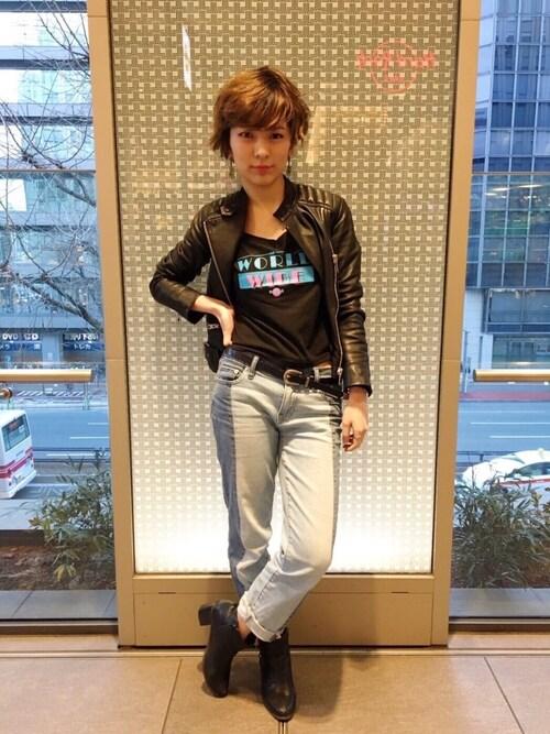 Hard Rock Cafe JAPANさんの「LDS PITBULL T(Hard Rock Cafe)」を使ったコーディネート
