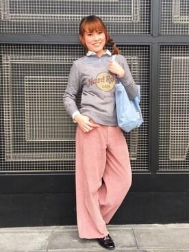 Hard Rock Cafe JAPANさんの「Classic French Crew T(Hard Rock Cafe|ハードロックカフェ)」を使ったコーディネート