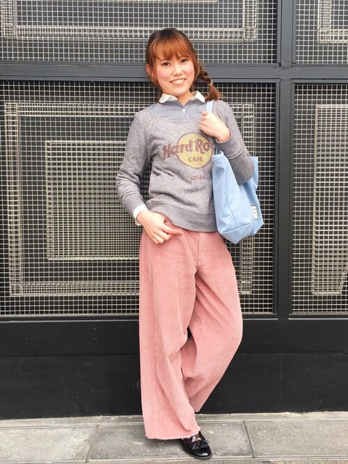 Hard Rock Cafe JAPANさんの「Classic French Crew T(Hard Rock Cafe)」を使ったコーディネート