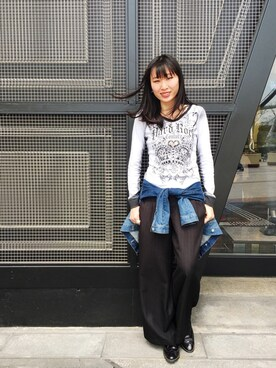 Hard Rock Cafe JAPANさんの「Couture white tee(Hard Rock Cafe|ハードロックカフェ)」を使ったコーディネート