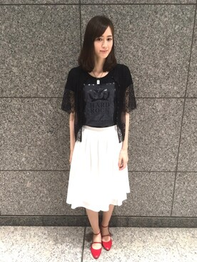 Hard Rock Cafe JAPANさんの「Couture Snakeskin T(Hard Rock Cafe|ハードロックカフェ)」を使ったコーディネート