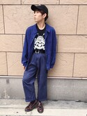 Hard Rock Cafe JAPANさんの「Skull T(Hard Rock Cafe|ハードロックカフェ)」を使ったコーディネート