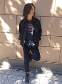 Hard Rock Cafe JAPANさんの「Burnout t(Hard Rock Cafe|ハードロックカフェ)」を使ったコーディネート