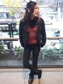 Hard Rock Cafe JAPANさんの(Hard Rock Cafe|ハードロックカフェ)を使ったコーディネート