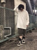 「Rick Owens Drop-Crotch Cotton Shorts(Rick Owens)」 using this NJ looks