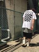 「Rick Owens Drop-Crotch Cotton Shorts(Rick Owens)」 using this NJ looks