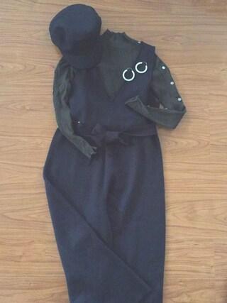 haruさんの「<サンドバーグ直美さん着用>共地ベルト付ニットオールインワン(STYLEST|スタイレスト)」を使ったコーディネート