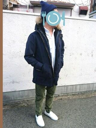 「【ZOZO売上ランキング総合No.1獲得!!】●OCEANS・Fine掲載●ユニセックス 3WAY M-51      モッズコート(ROSE BUD COUPLES)」 using this ピーコ looks