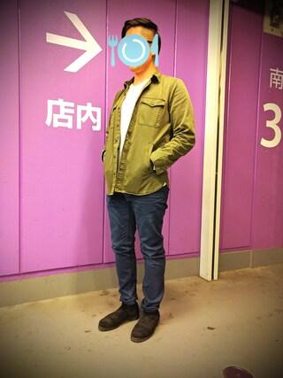 「BAYFLOW/起毛5ポケットスリムパンツ(BAYFLOW)」 using this ピーコ looks