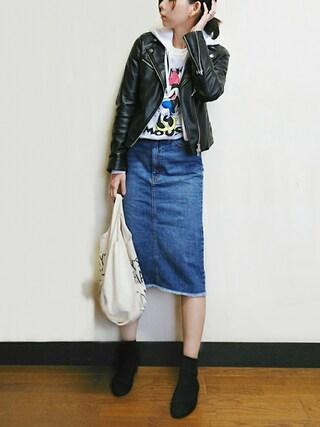 「ミディアムウエイトデニムスカート(N.(N. Natural Beauty Basic))」 using this meiko looks