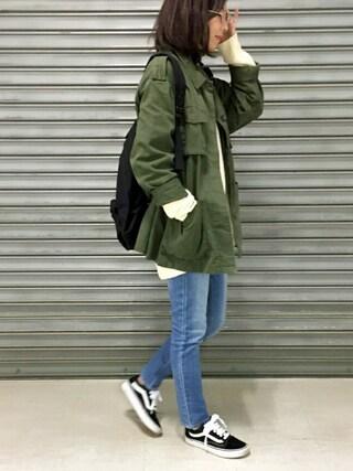 meikoさんの「ハイウエストスキニーデニム(N.(N. Natural Beauty Basic)|エヌ(エヌ ナチュラルビューティーベーシック))」を使ったコーディネート