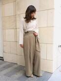 misako yanoさんの「CAMILLE BIS RANDA/ワンストラップセパレートシューズ(RANDA|ランダ)」を使ったコーディネート