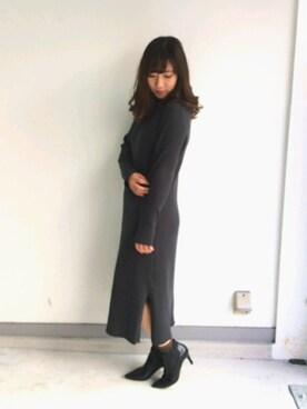 RANDA 高松店|misako yanoさんの「ロングワンピースニット(RANDA)」を使ったコーディネート