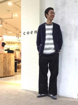 coenテラスモール湘南店|coen  清水。さんの(coen|コーエン)を使ったコーディネート