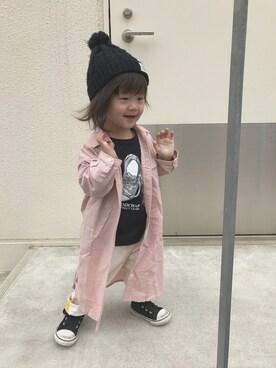 mika♡toumaさんの「7分袖シャツワンピース(RADCHAP|ラッドチャップ)」を使ったコーディネート