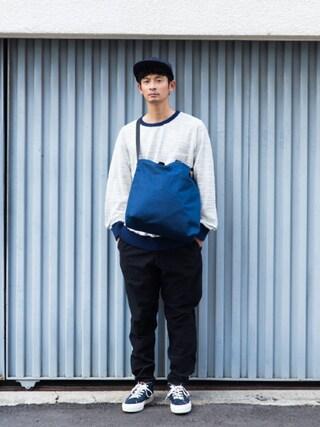 junya_kasugaさんの(BLUE BLUE|ブルーブルー)を使ったコーディネート
