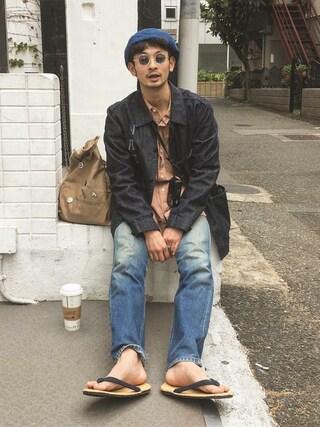 junya_kasugaさんの「Large Brown Bag(STUSSY|ステューシー)」を使ったコーディネート