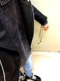 しょーたさんの「カウレザーダブルライダースジャケット(VANQUISH ヴァンキッシュ)」を使ったコーディネート