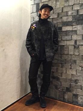 ビューティ&ユース ユナイテッドアローズ 町田店|Daisuke Sakamotoさんのキャップ「【別注】 <Racal>∴ PIGSUEDE CAP/キャップ(RACAL|ラカル)」を使ったコーディネート