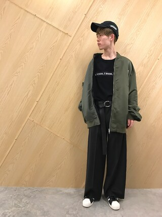 MIDWEST OSAKA|Muraiさんの「■別注■DISCOVE(RED)×MIDWEST 『I'm yankee』キャップ(DISCOVERED|ディスカバード)」を使ったコーディネート