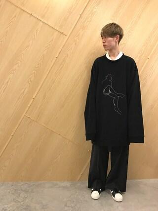 MIDWEST OSAKA|Muraiさんの「DRESSEDUNDRESSED 『SPLIT COLLOR XXL』ポロシャツ(DRESSEDUNDRESSED|ドレスドアンドレスド)」を使ったコーディネート
