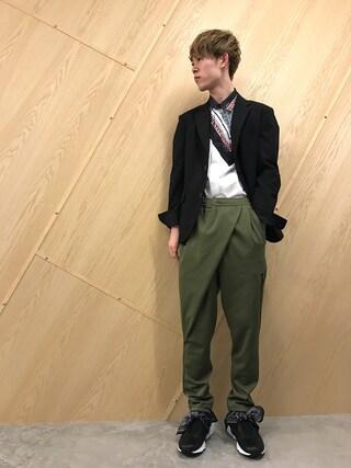 MIDWEST OSAKA|Muraiさんの「ANREALAGE タックジャケット(ANREALAGE|アンリアレイジ)」を使ったコーディネート