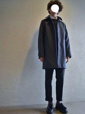 SEVENDAYS=SUNDAY|UuakaMTNさんのダウンジャケット/コート「・WIND BLOCK ステンカラーコート(SEVENDAYS=SUNDAY|セブンデイズサンデイ)」を使ったコーディネート