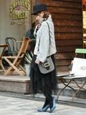 chikaさんの「ビジューヘアゴム【PLAIN CLOTHING】(PLAIN CLOTHING|プレーンクロージング)」を使ったコーディネート