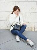 chikaさんの「ZIPデザインミニハンドバッグ/ショルダーバッグ【PLAIN CLOTHING】(PLAIN CLOTHING プレーンクロージング)」を使ったコーディネート