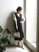 chikaさんの「ZIPポケットスクエアショルダーバッグ/ハンドバッグ【PLAIN CLOTHING】(PLAIN CLOTHING|プレーンクロージング)」を使ったコーディネート