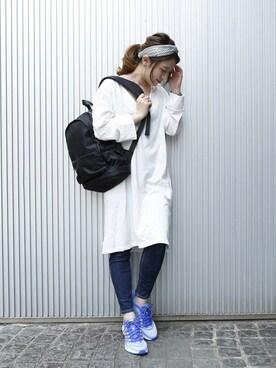 PLAIN CLOTHING TOKYO|chikaさんの「【2017新色登場】ナイロンZIPバックパック/リュック【PLAIN CLOTHING】(PLAIN CLOTHING|プレーンクロージング)」を使ったコーディネート