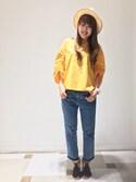 kanamiさんの「ブレードつば広帽(a.v.v アー・ヴェ・ヴェ)」を使ったコーディネート