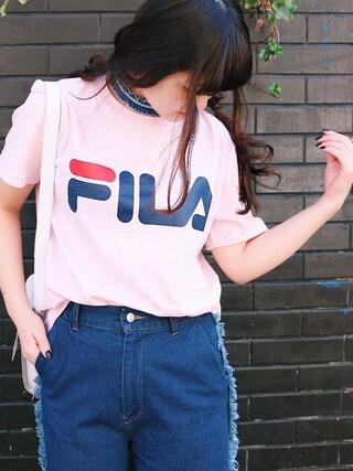 SPINNS 本部|SPINNS / スピンズさんの「FILA(フィラ)プリントTシャツ(SPINNS|スピンズ)」を使ったコーディネート