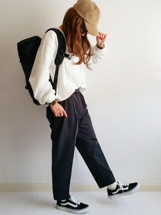 「VANS ヴァンズ OLD SKOOL DX オールドスクール DX V36CL+ BLACK(VANS)」 using this Ayumi looks