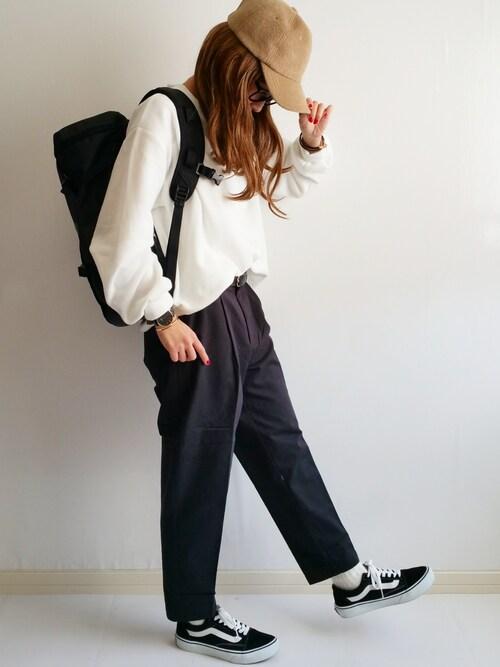 Ayumiさんの「VANS ヴァンズ OLD SKOOL DX オールドスクール DX V36CL+ BLACK(VANS)」を使ったコーディネート