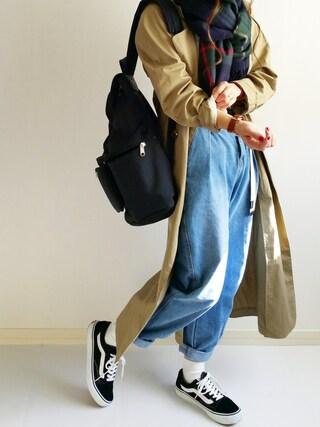 Ayumiさんの「靴下屋/ コットンブレンド無地ショートソックス(靴下屋|クツシタヤ)」を使ったコーディネート
