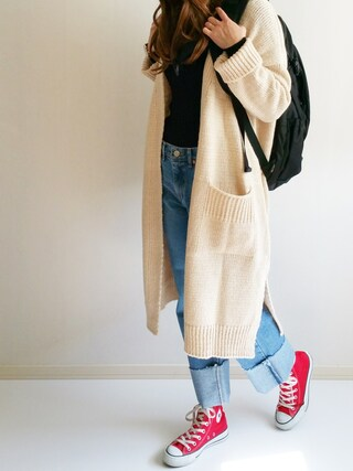 「CANVAS ALL STAR HI/キャンバス オールスター HI(CONVERSE)」 using this Ayumi looks