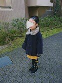 Kaoru さんの「【キッズ】ファーエリポンチョコート/731858(GLOBAL WORK|グローバルワーク)」を使ったコーディネート