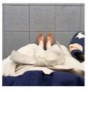 ☺︎さんの「【WEB限定カラー】パンチングレースボリューム袖ブラウス(ViS|ビス)」を使ったコーディネート