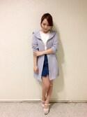 かほ(渋谷109♡titty&Co.)さんの「モッズコート(titty&Co.|ティティー&コー)」を使ったコーディネート