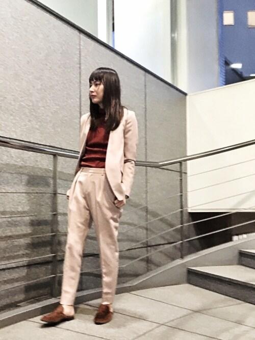 ヒロセさんの「ノーカラージャケット(UNITED TOKYO)」を使ったコーディネート